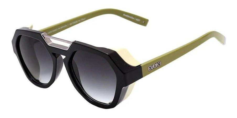 Óculos De Sol Evoke Avalanche Haste Verde Lente Cinza A07