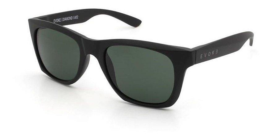 Óculos De Sol Evoke Diamond I A02 Preto Fosco