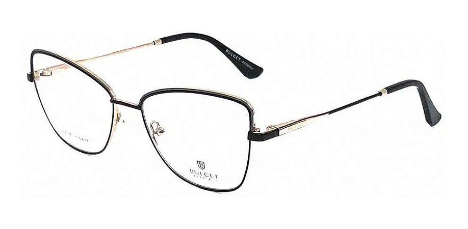 Óculos Armação Bulget Bg2016 09a Metal Preto Feminino