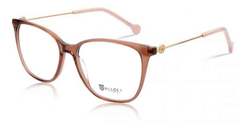 Óculos Armação Bulget Bg7064 Feminino T02 Rose  Dourado
