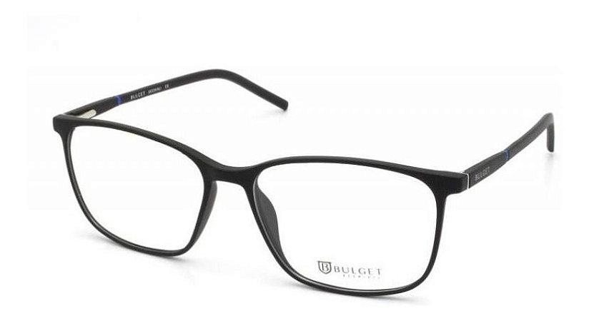 Óculos Armação Bulget Bg7061 A01 Preto Fosco Masculino