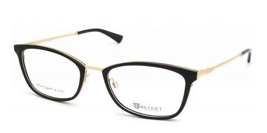 Óculos Armação Bulget Bg6323i A01 Acetato Preto Feminino