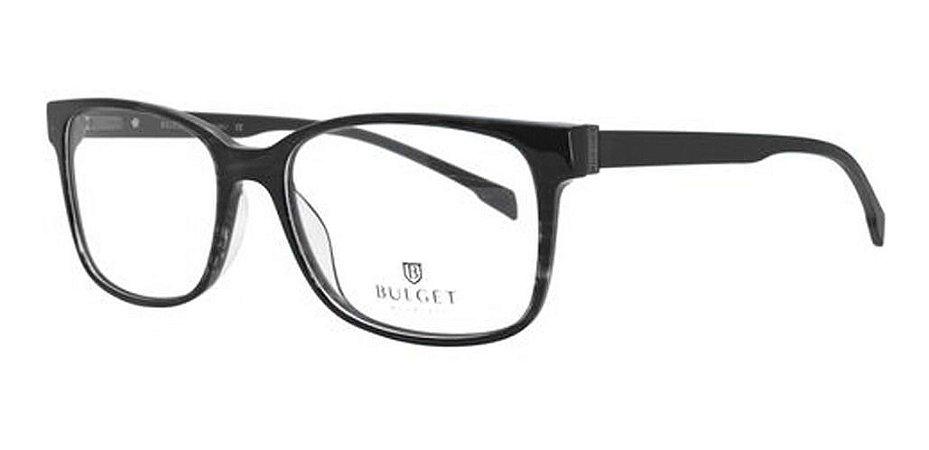 Óculos Armação Bulget Bg6283n A01 Preto Fosco  Masculino
