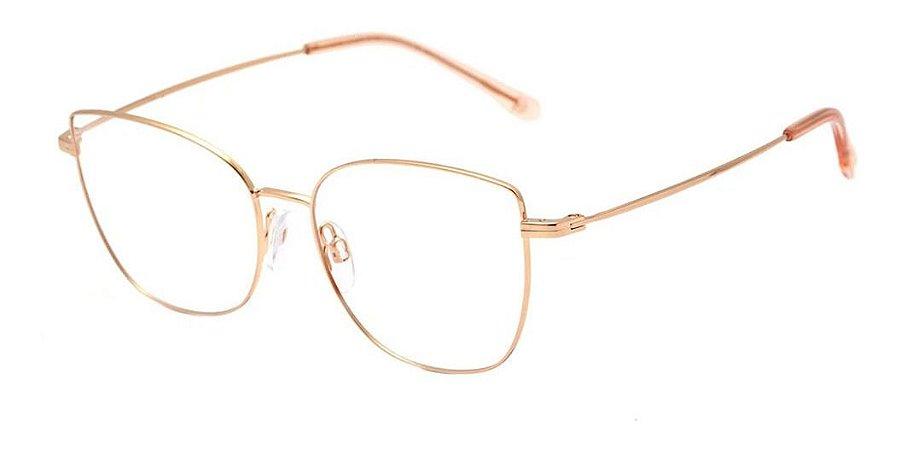Óculos Armação Bulget Bg1646tn 01a  Bronze Titanium Feminino