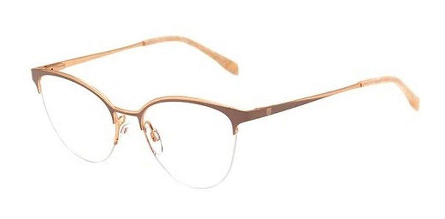 Óculos De Grau Bulget Bg1616 08a Nude Dourado