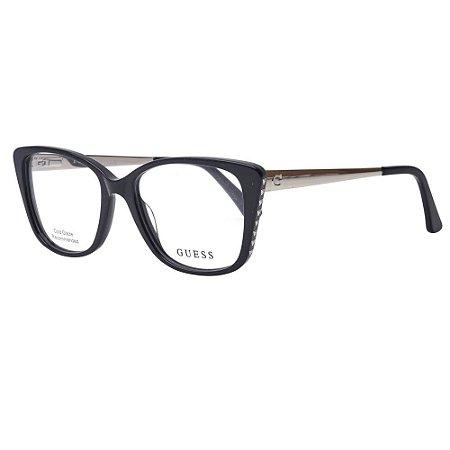 Óculos Armação Guess GU2720 001 Acetato Preto Feminino