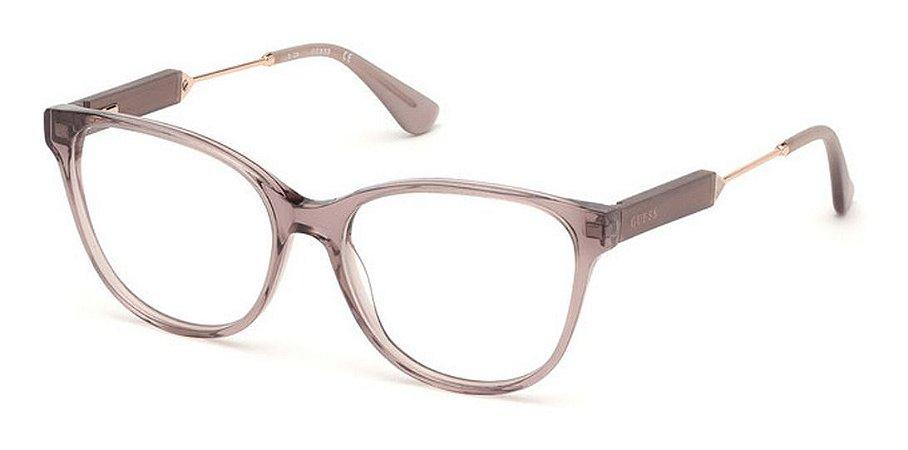 Óculos Armação Guess Gu2718 018 Feminino Rose Translucido