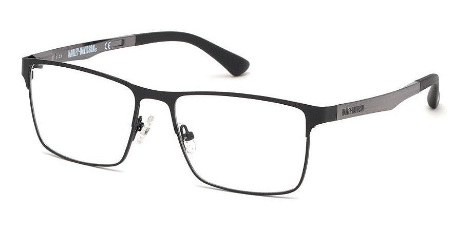 Óculos De Grau Harley Davidson Hd0795 002 Metal Preto