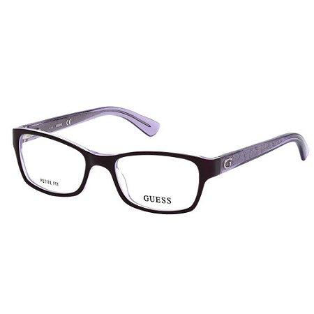 Óculos Armação Guess GU2591 081 Roxo Acetato Feminino