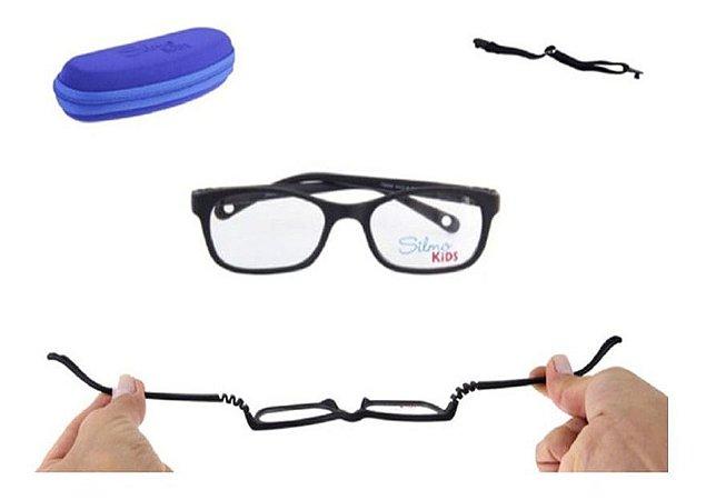 Óculos Armação Silmo Kids Sk18120 D.grey Meninos