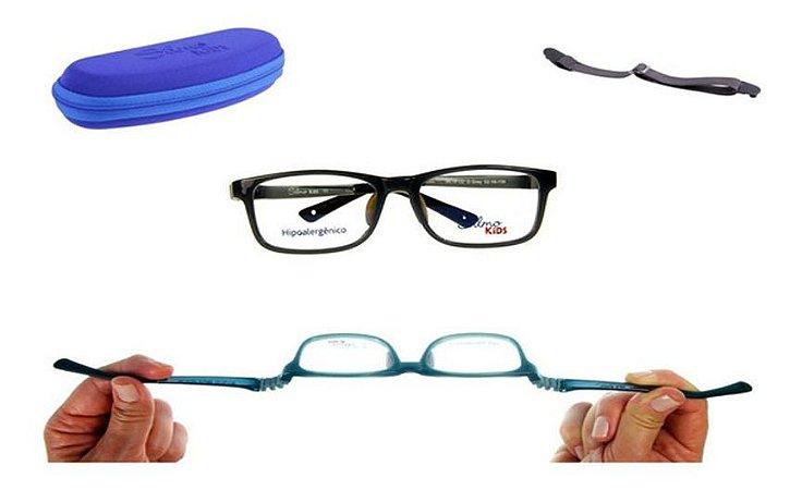 Óculos Armação Silmo Kids Sk18119 D.grey Meninos
