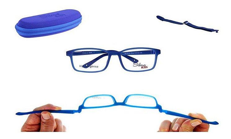 Óculos Armação Silmo Kids Sk18120 Blue Meninos