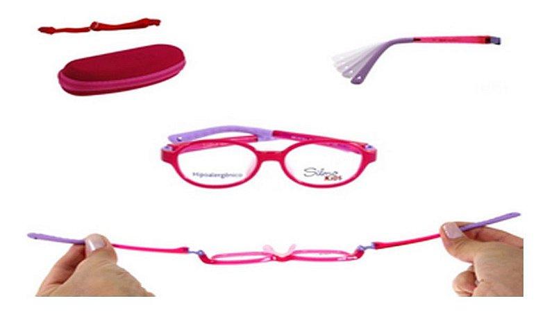 Óculos Armação Silmo Kids Sk18101 Red Meninas