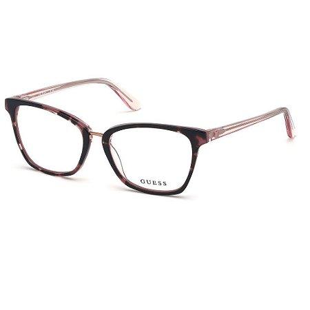 Óculos Armação Guess GU2733 074 Rosa Mesclado Feminino