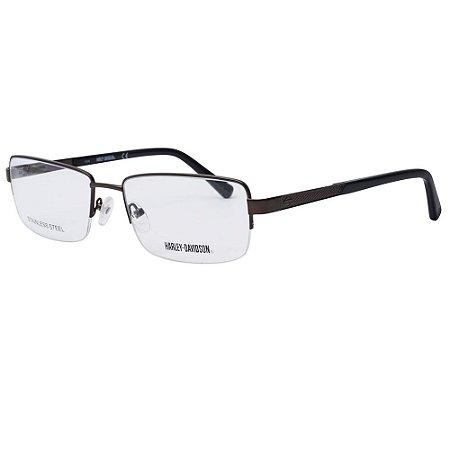 Óculos Armação Harley-Davidson HD0750 009 Metal Masculino