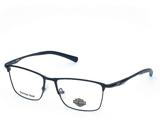Óculos Armação Harley Davidson Hd0821 091  Metal Azul Escuro