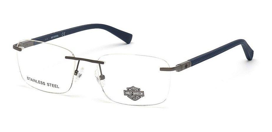 Óculos Armação Harley Davidson Hd0810 008  Metal Masculino
