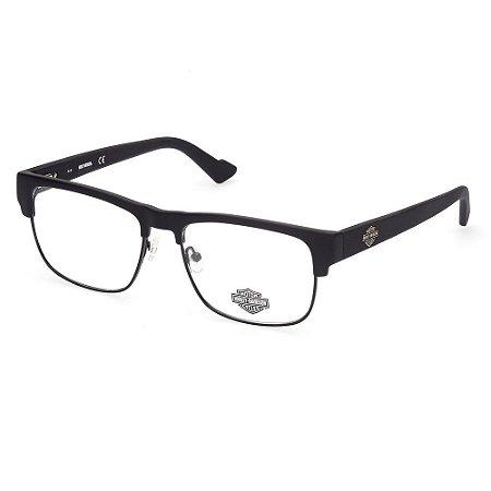 Óculos Armação Harley Davidson HD0825 002 Preto Masculino