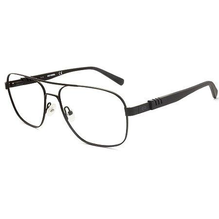 Óculos Armação Harley Davidson HD0783 002 Metal Preto