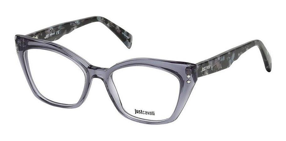 Óculos Armação Just Cavalli Cinza Fumê Feminino Jc0809 090