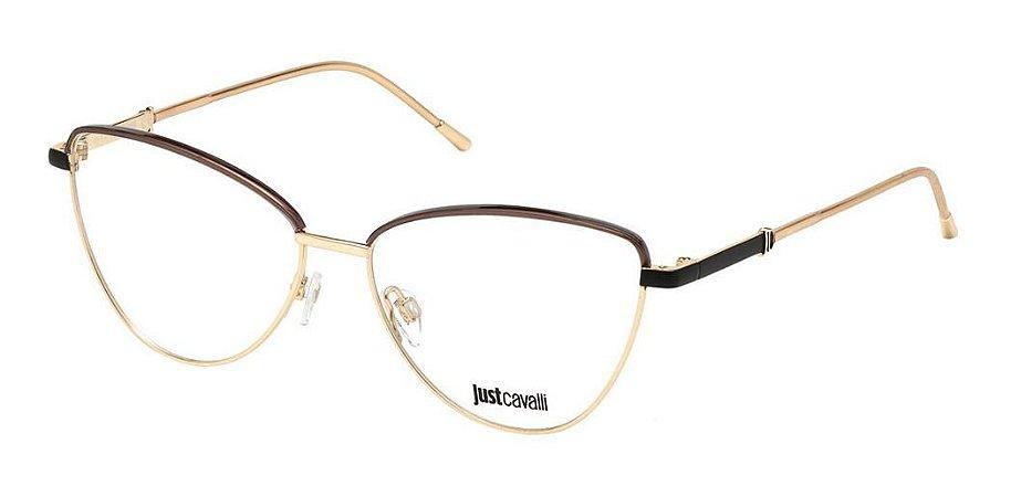Óculos De Grau Just Cavalli Jc0929 028 Dourado Preto Fosco