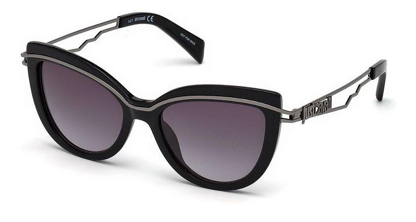 Óculos De Sol Just Cavalli Preto Brilho / Degrade Jc832s 01b