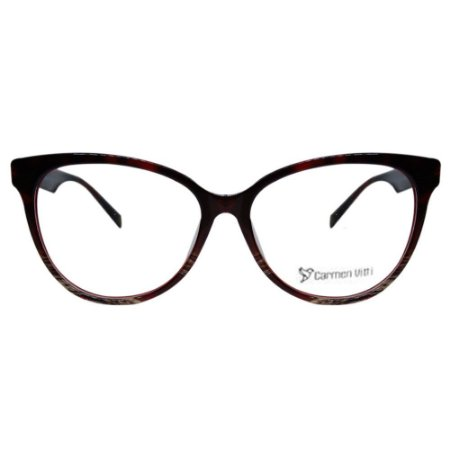 Óculos Armação Carmen Vitti CV0093 C2 Vinho Mesclado Feminin