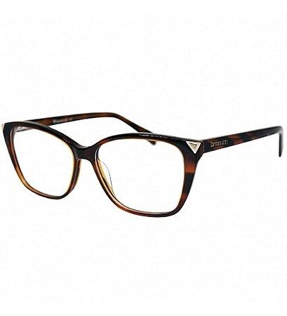 Óculos Armação Carmen Vitti Cv0089 C2 Marrom  Retangular
