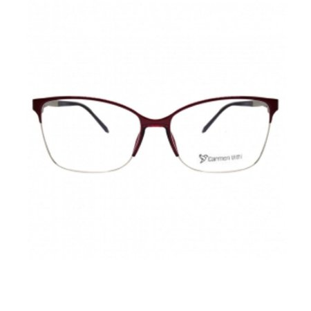 Óculos Armação Carmen Vitti CV0099 C2 Metal Bordo Feminino