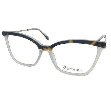 Óculos Armação Carmen Vitti CV0152 C2 Demi Transparente
