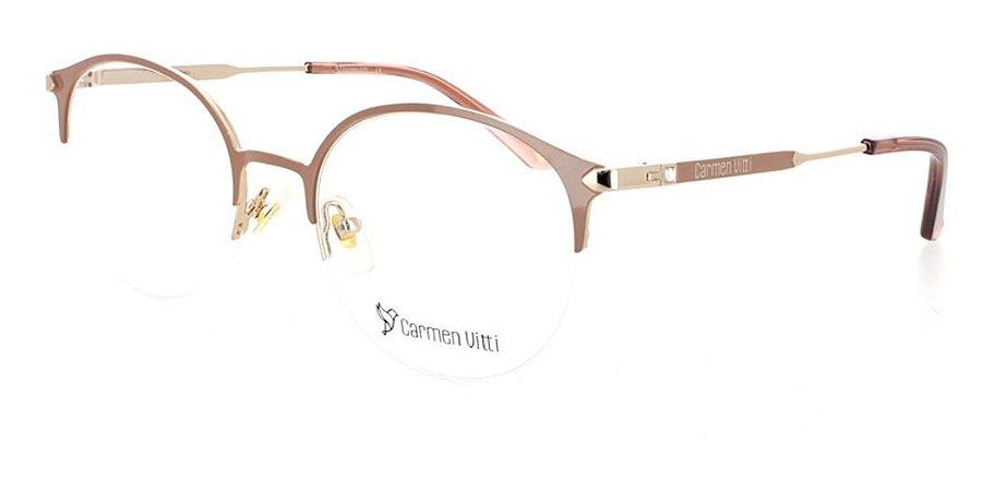 Óculos Armação Carmen Vitti Cv0106 C3 Metal Nude