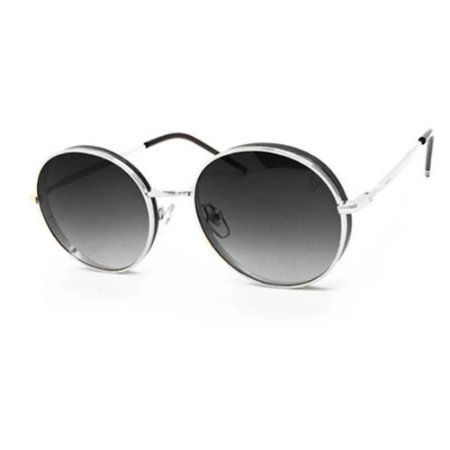 Óculos Solar Carmen Vitti CV7021 C1 Prata Metal Feminino