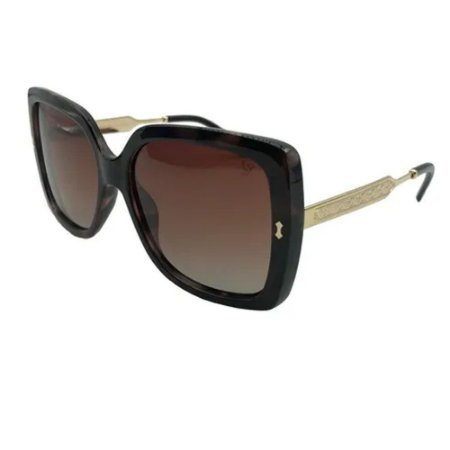 Óculos Solar Carmen Vitti CV7009 C1 Marrom Mesclado Feminino