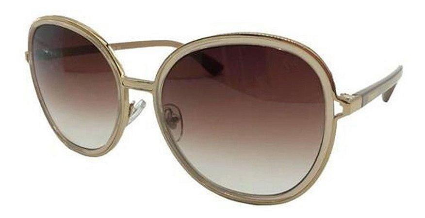 Óculos De Sol Carmen Vitti Cv7023 C3 Dourado  Lente Degrade