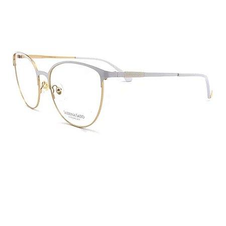 Óculos Armação Sabrina Sato SS8012 C2 Branco Metal Feminino