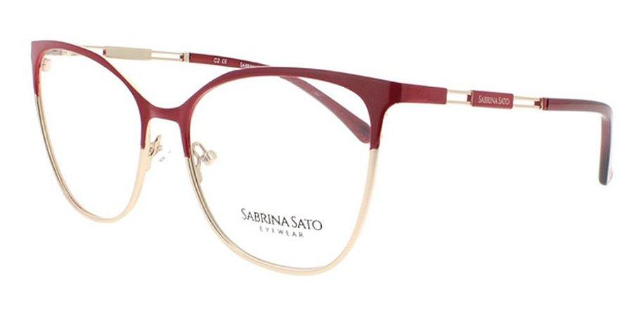 Óculos Armação Sabrina Sato Ss117 C2 Metal Feminino