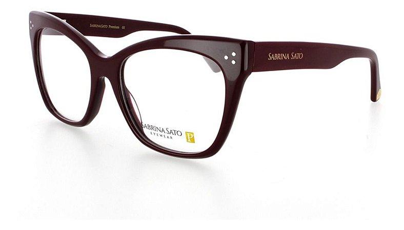 Óculos Armação Sabrina Sato Premium Bordo Ss8005 C2