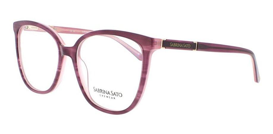 Óculos Armação Sabrina Sato Ss118 Rosa Escuro  Mesclado C2