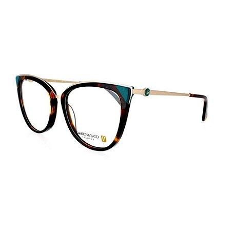 Óculos Armação Sabrina Sato SS484 C2 Marrom Mesclado Feminin