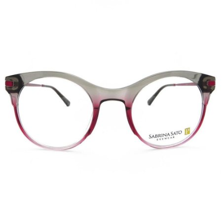 Óculos Armação Sabrina Sato SS8007 C3 Vermelho Degrade