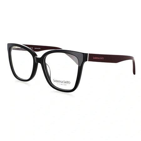 Óculos Armação Sabrina Sato SS135 C1 Preto Acetato Feminino