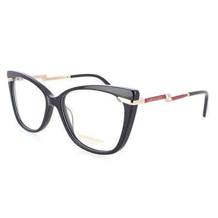 Óculos Armação Sabrina Sato SS541 C1 Preto Acetato Feminino