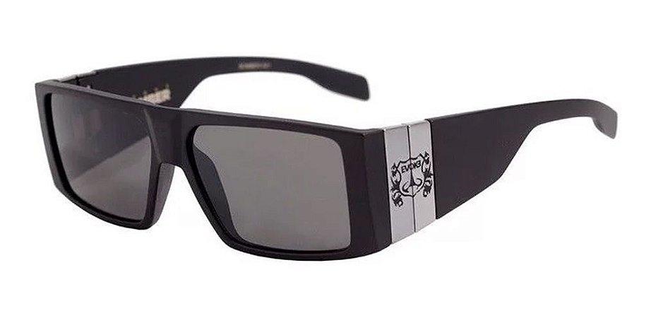 Óculos De Sol Evoke Bomber A01 Preto Fosco Lente Escura