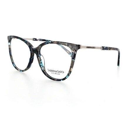 Óculos Armação Sabrina Sato SS121 C2 Cinza Mesclado Feminino