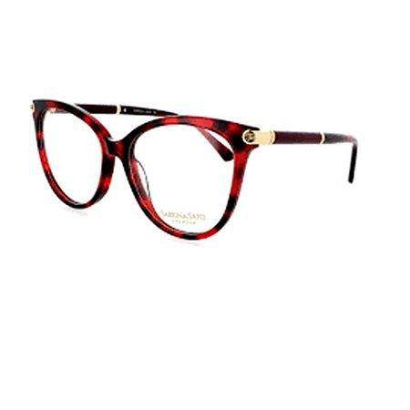 Óculos Armação Sabrina Sato SS498 C2 Vermelho Mesclado