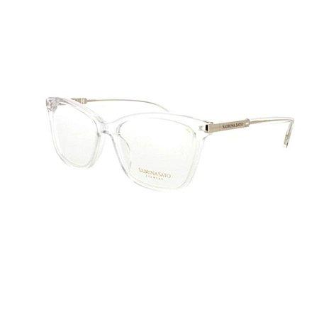 Óculos Armação Sabrina Sato SSK6001 C1 Cristal Feminino