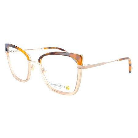 Óculos Armação Sabrina Sato SS554 C3 Marrom Degrade Feminino