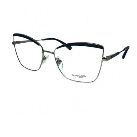 Óculos Armação Sabrina Sato SS553 C1 Dourado com Preto