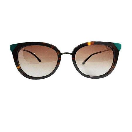 Óculos de Sol Sabrina Sato SS492 C2 Marrom Tartaruga Acetato