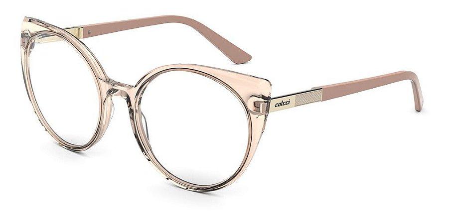Óculos Armação Colcci C6152j0854 Rosa Translucido Feminino